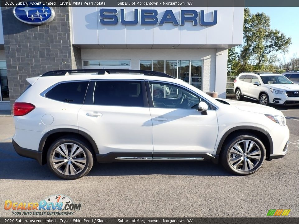 2020 Subaru Ascent Limited Crystal White Pearl / Slate Photo #3