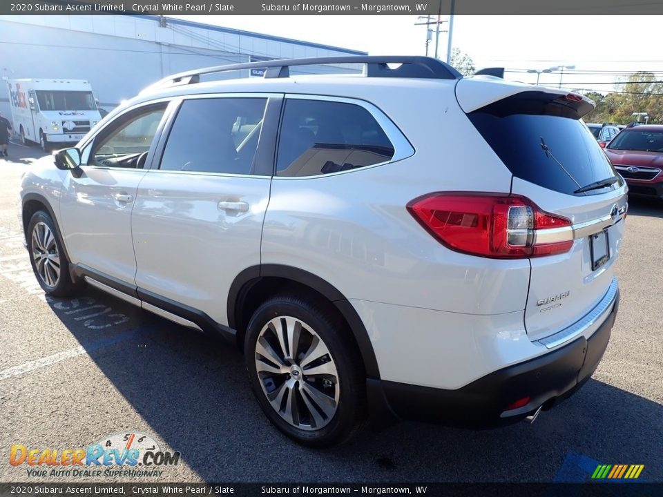 2020 Subaru Ascent Limited Crystal White Pearl / Slate Photo #6