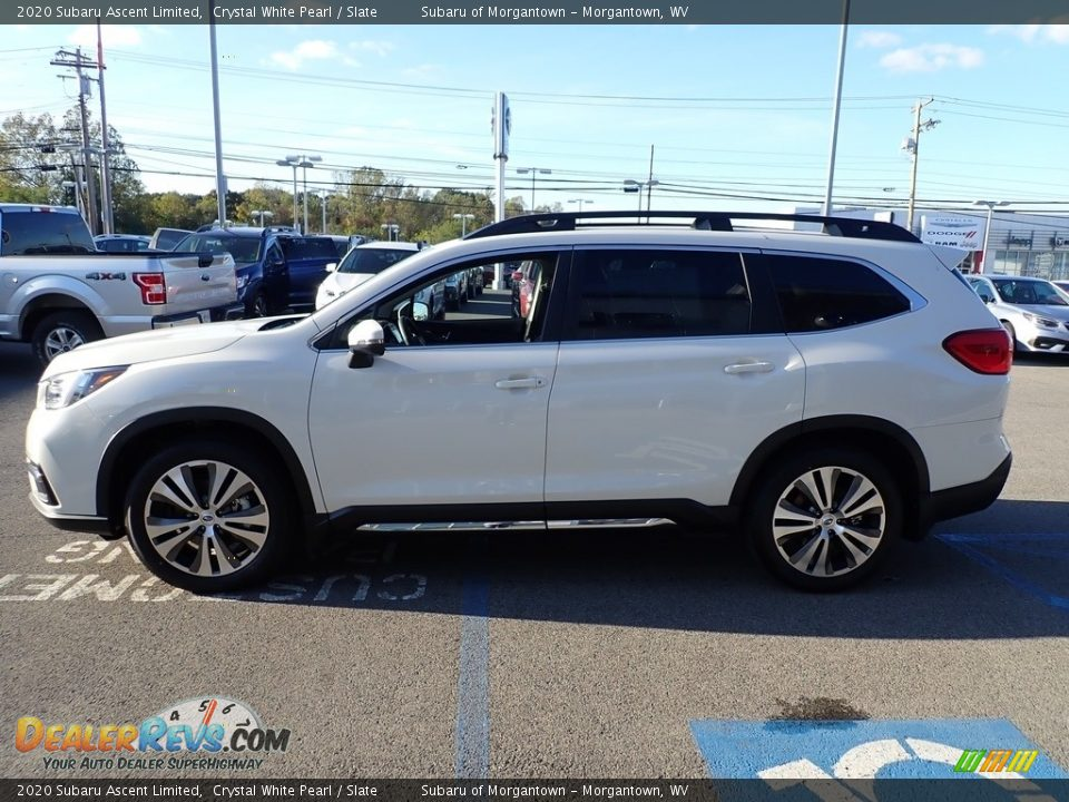 2020 Subaru Ascent Limited Crystal White Pearl / Slate Photo #7