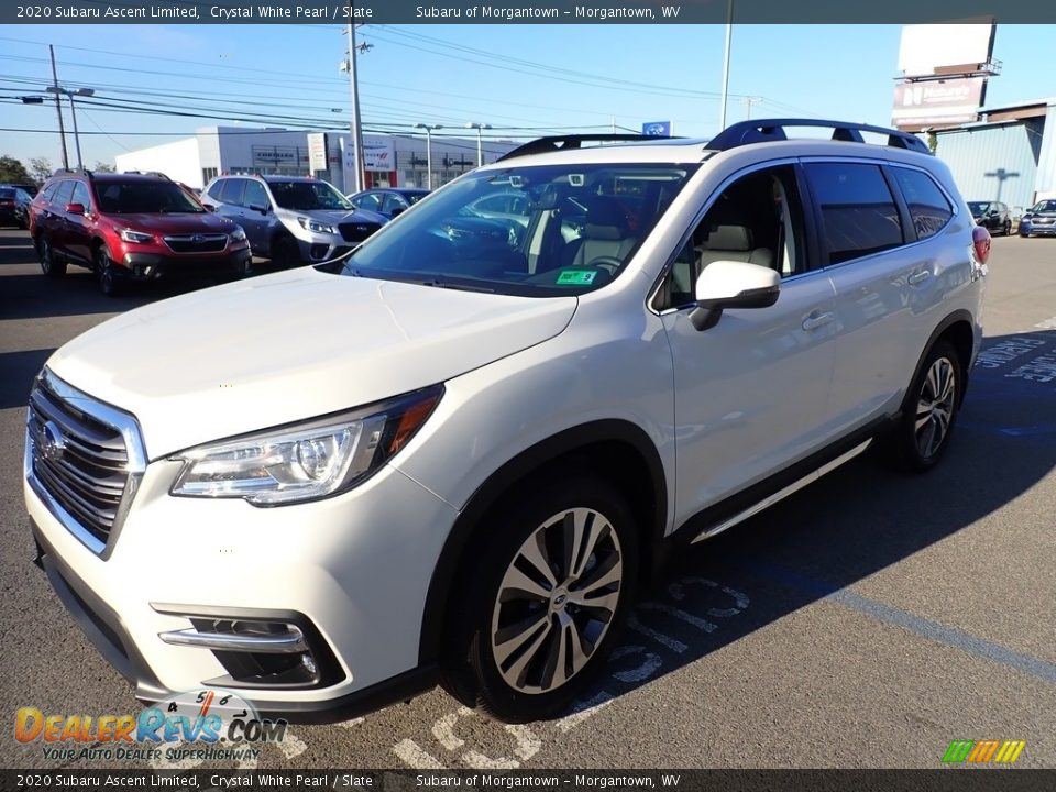 2020 Subaru Ascent Limited Crystal White Pearl / Slate Photo #8