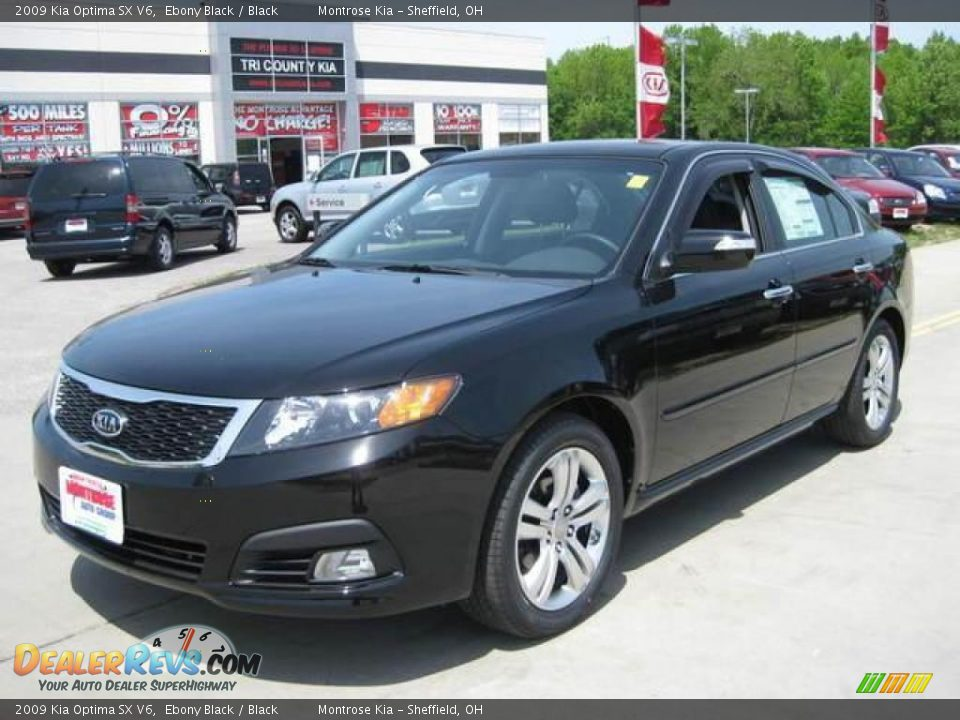 2009 Kia Optima SX V6 Ebony Black / Black Photo #1 ...