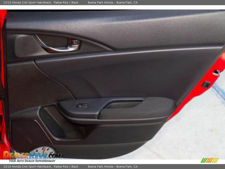 2019 Honda Civic Sport Hatchback Rallye Red / Black Photo #29