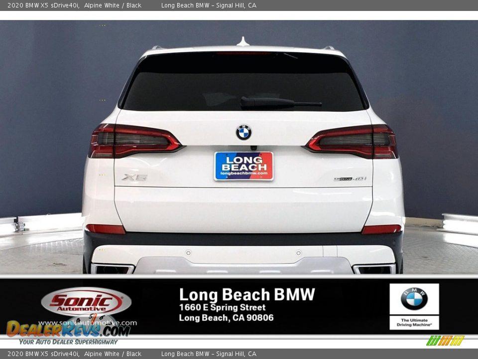 2020 BMW X5 sDrive40i Alpine White / Black Photo #3