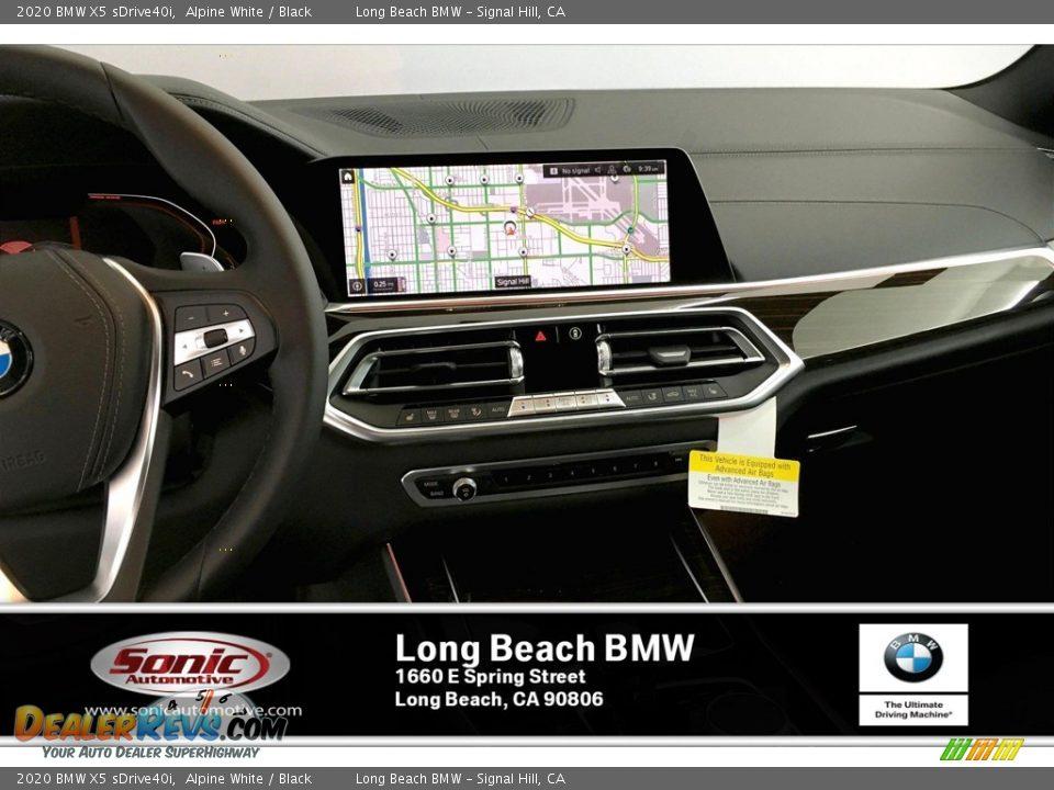 2020 BMW X5 sDrive40i Alpine White / Black Photo #5