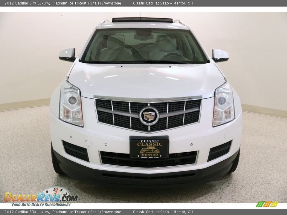 2012 Cadillac SRX Luxury Platinum Ice Tricoat / Shale/Brownstone Photo #2