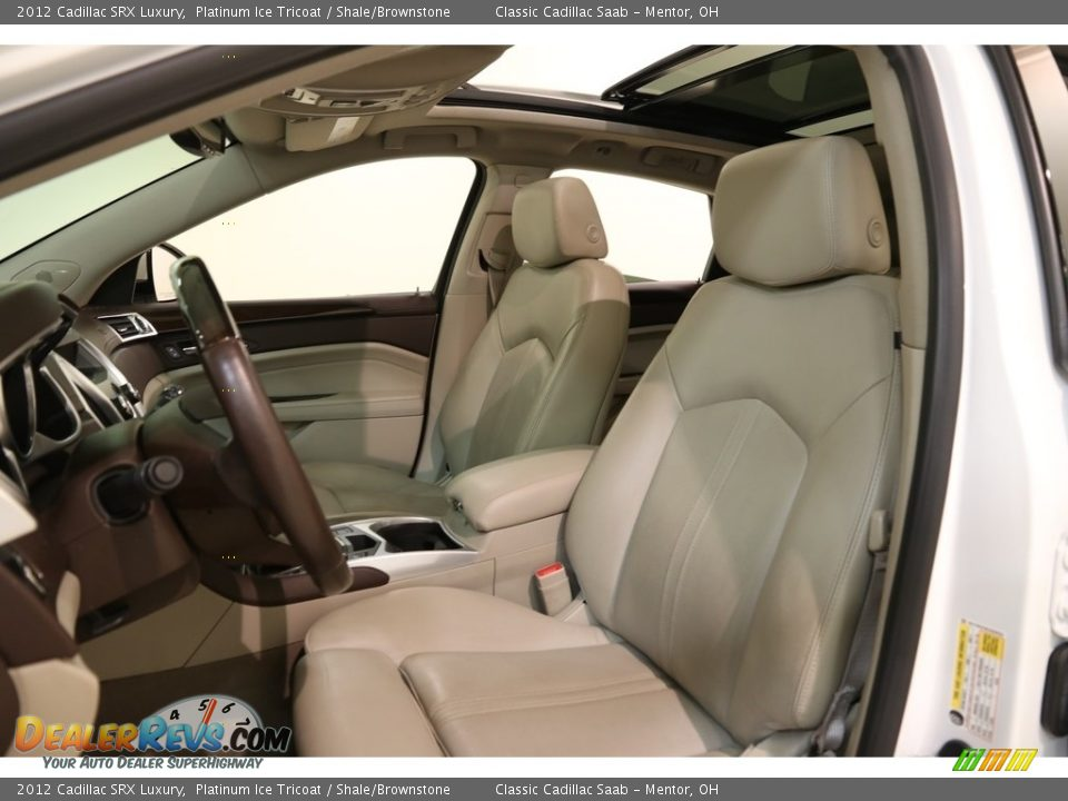 2012 Cadillac SRX Luxury Platinum Ice Tricoat / Shale/Brownstone Photo #5