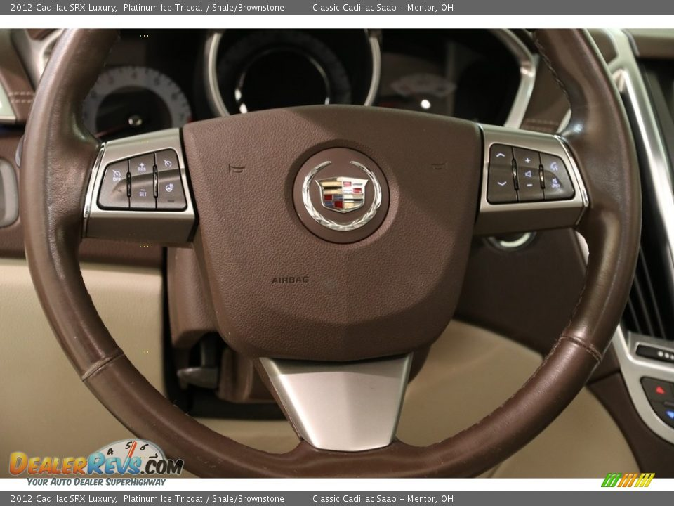 2012 Cadillac SRX Luxury Platinum Ice Tricoat / Shale/Brownstone Photo #7