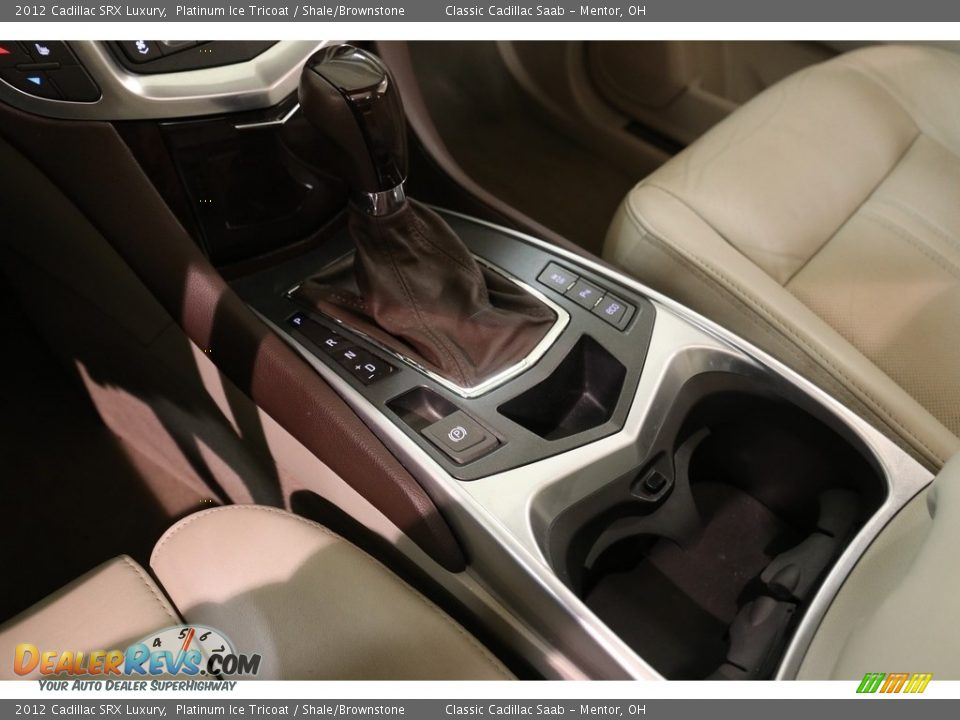 2012 Cadillac SRX Luxury Platinum Ice Tricoat / Shale/Brownstone Photo #12