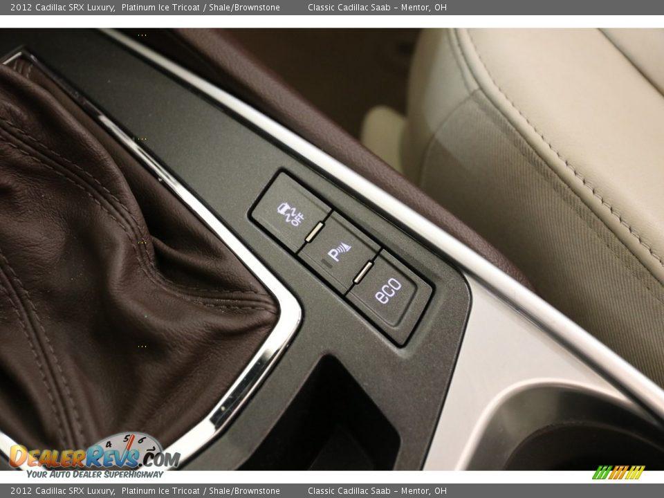 2012 Cadillac SRX Luxury Platinum Ice Tricoat / Shale/Brownstone Photo #13