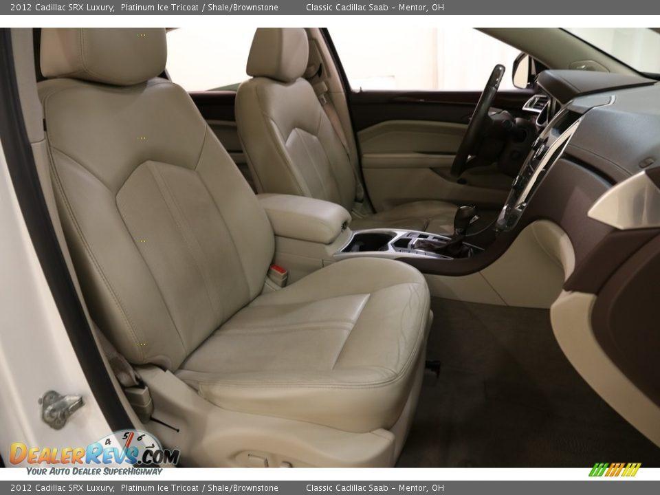 2012 Cadillac SRX Luxury Platinum Ice Tricoat / Shale/Brownstone Photo #14