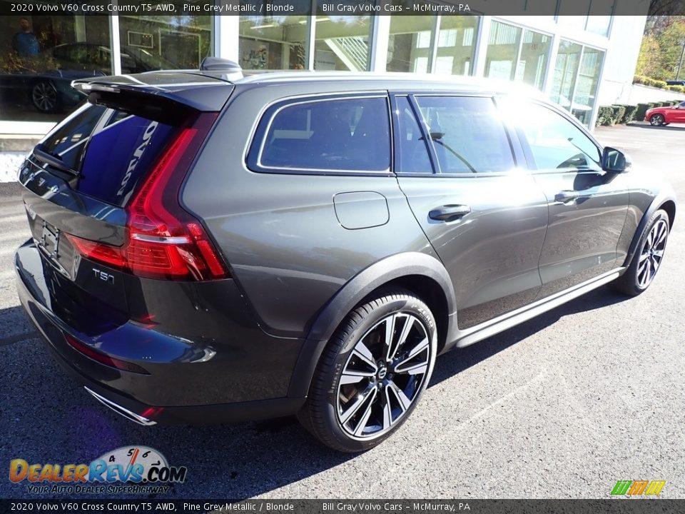 2020 Volvo V60 Cross Country T5 AWD Pine Grey Metallic / Blonde Photo #2