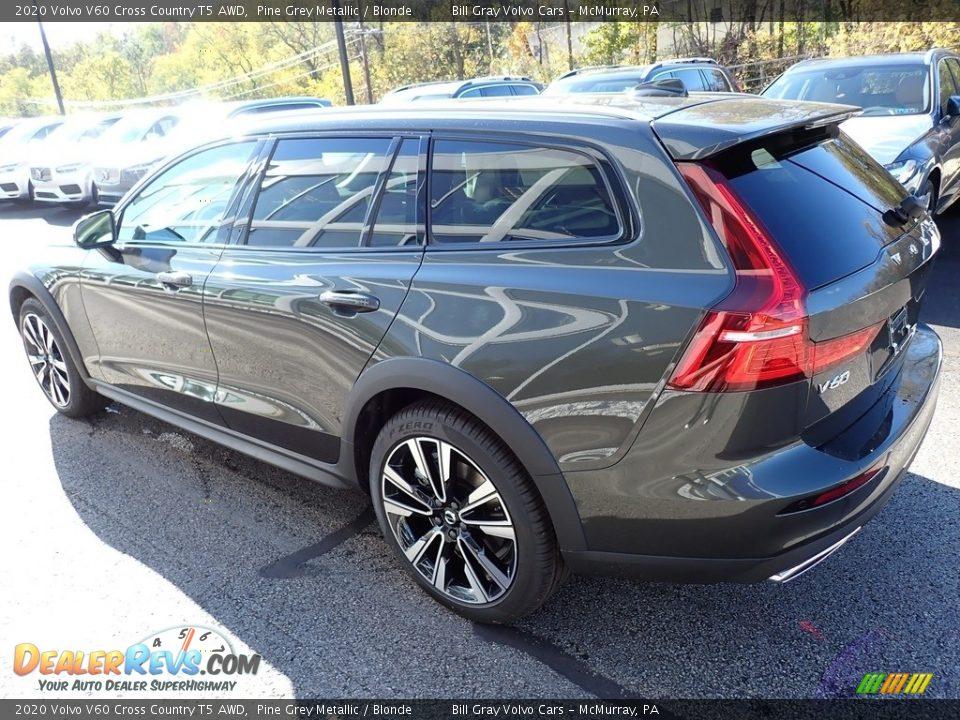 2020 Volvo V60 Cross Country T5 AWD Pine Grey Metallic / Blonde Photo #4
