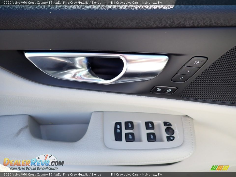 2020 Volvo V60 Cross Country T5 AWD Pine Grey Metallic / Blonde Photo #10