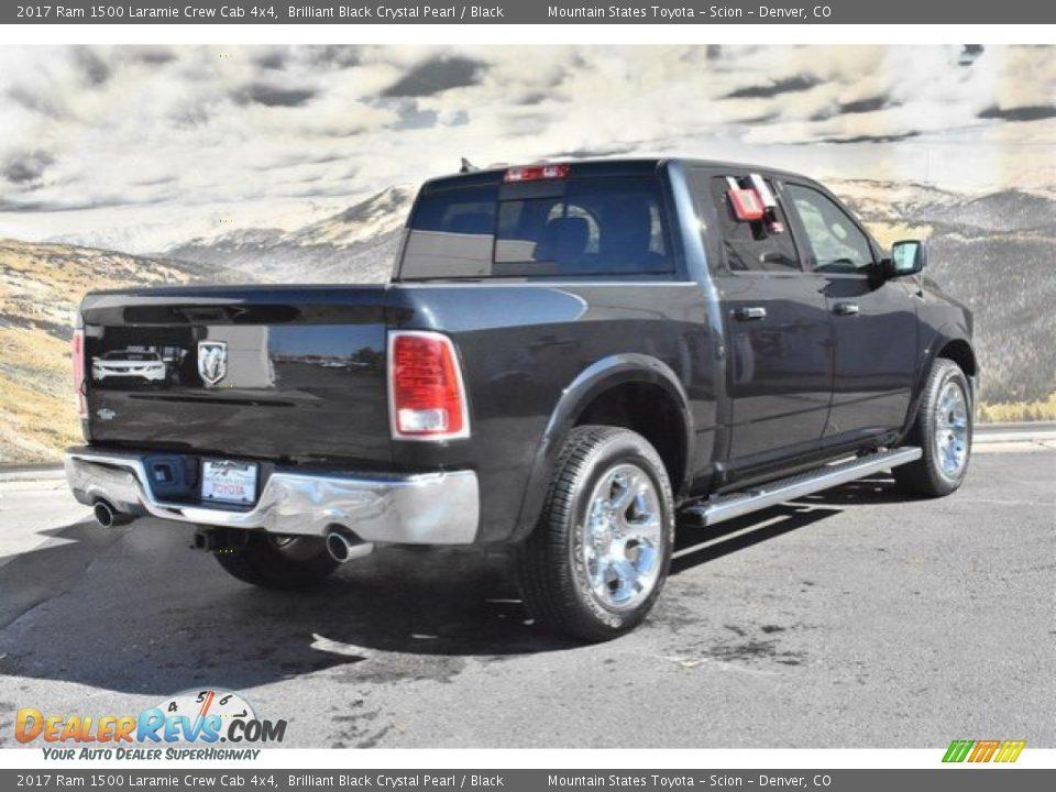 2017 Ram 1500 Laramie Crew Cab 4x4 Brilliant Black Crystal Pearl / Black Photo #3