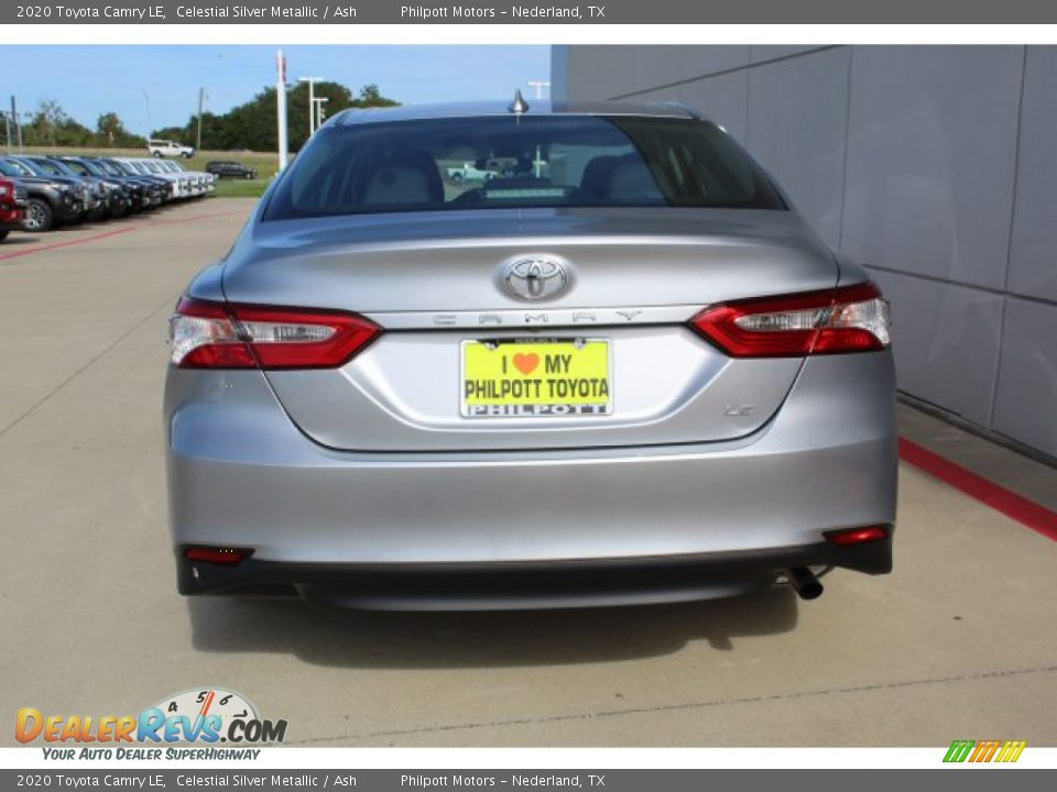 2020 Toyota Camry LE Celestial Silver Metallic / Ash Photo #7