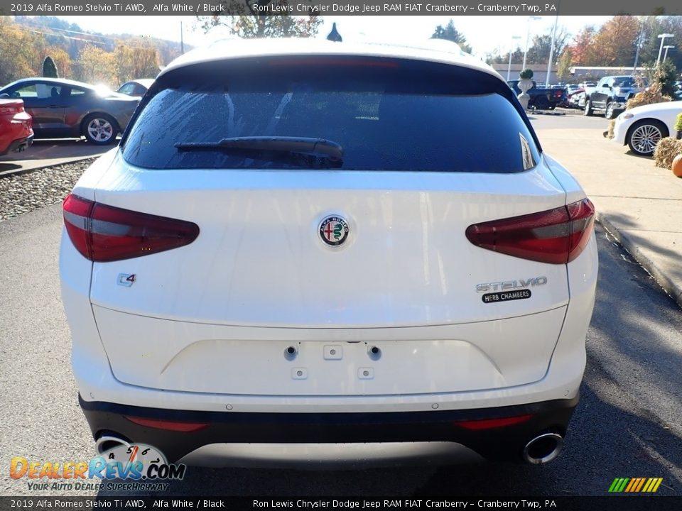 2019 Alfa Romeo Stelvio Ti AWD Alfa White / Black Photo #6