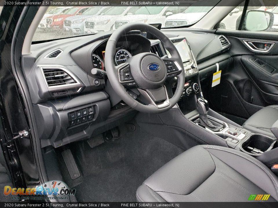 Black Interior - 2020 Subaru Forester 2.5i Touring Photo #8