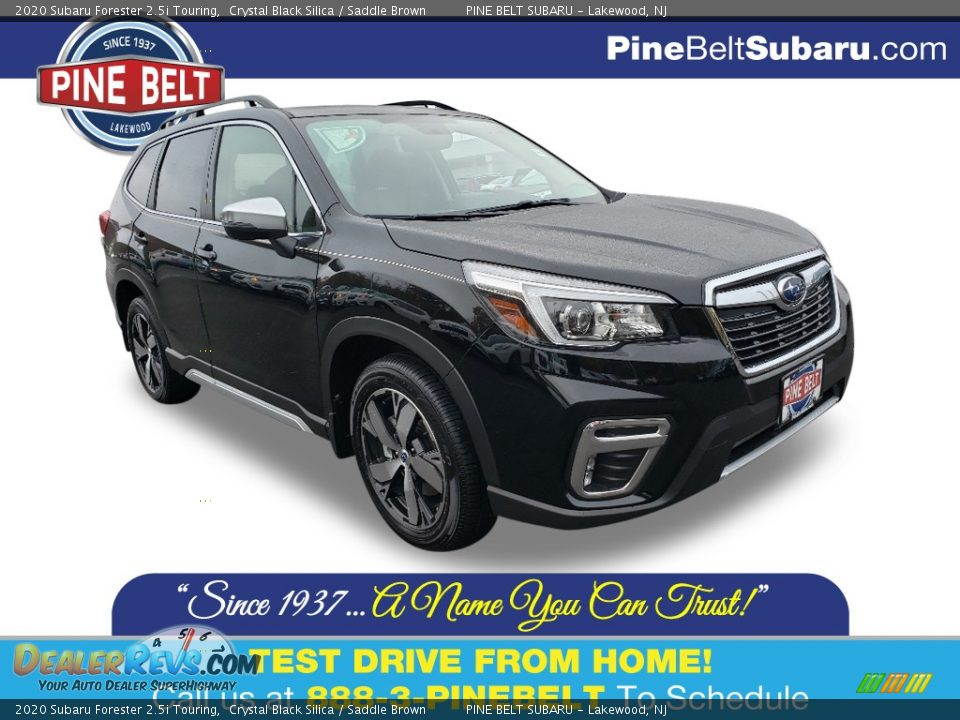 2020 Subaru Forester 2.5i Touring Crystal Black Silica / Saddle Brown Photo #1