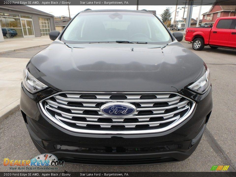 2020 Ford Edge SE AWD Agate Black / Ebony Photo #2