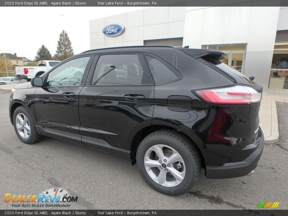 2020 Ford Edge SE AWD Agate Black / Ebony Photo #8
