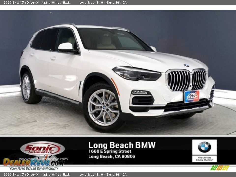 2020 BMW X5 sDrive40i Alpine White / Black Photo #1