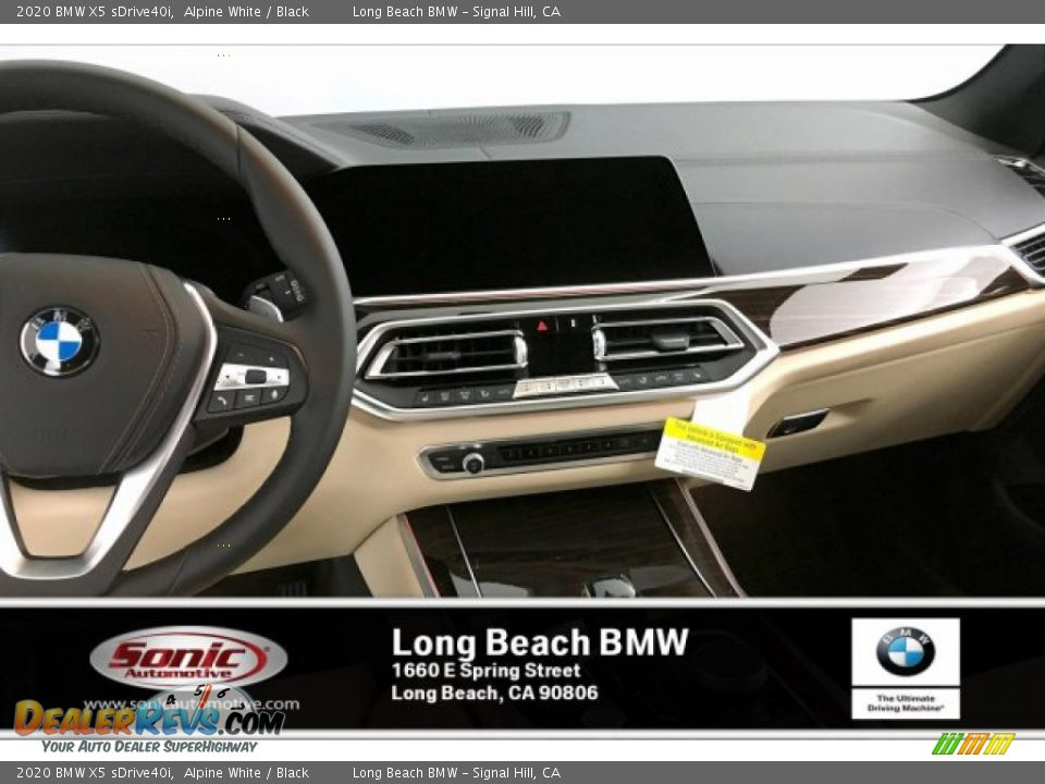 2020 BMW X5 sDrive40i Alpine White / Black Photo #5