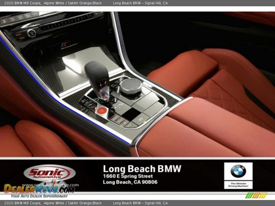 2020 BMW M8 Coupe Alpine White / Sakhir Orange/Black Photo #6