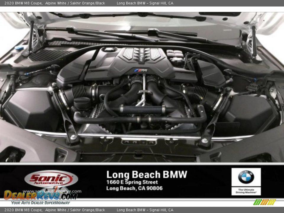2020 BMW M8 Coupe Alpine White / Sakhir Orange/Black Photo #8
