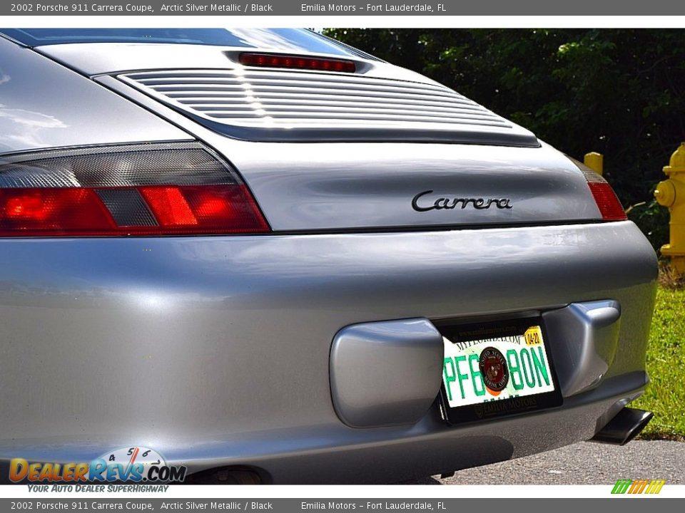 2002 Porsche 911 Carrera Coupe Arctic Silver Metallic / Black Photo #13