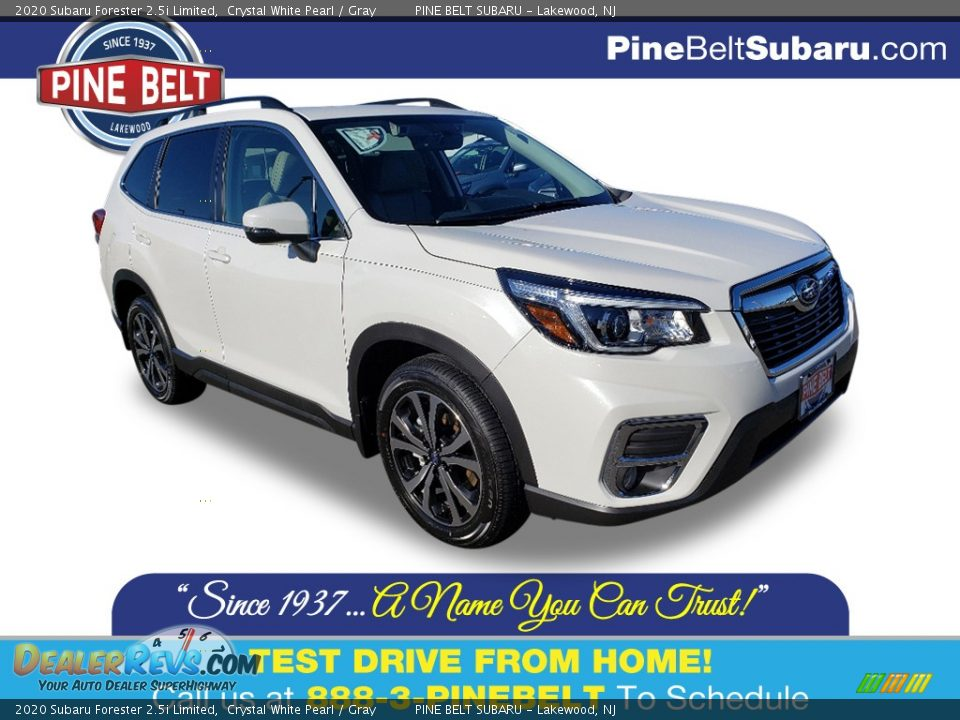 2020 Subaru Forester 2.5i Limited Crystal White Pearl / Gray Photo #1