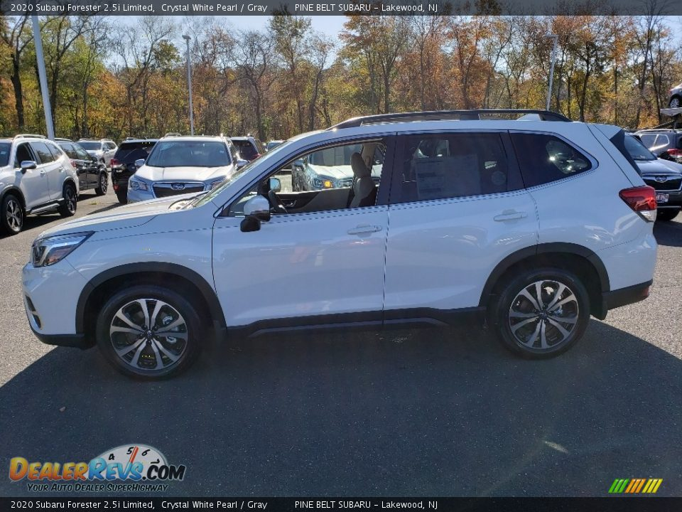 2020 Subaru Forester 2.5i Limited Crystal White Pearl / Gray Photo #3