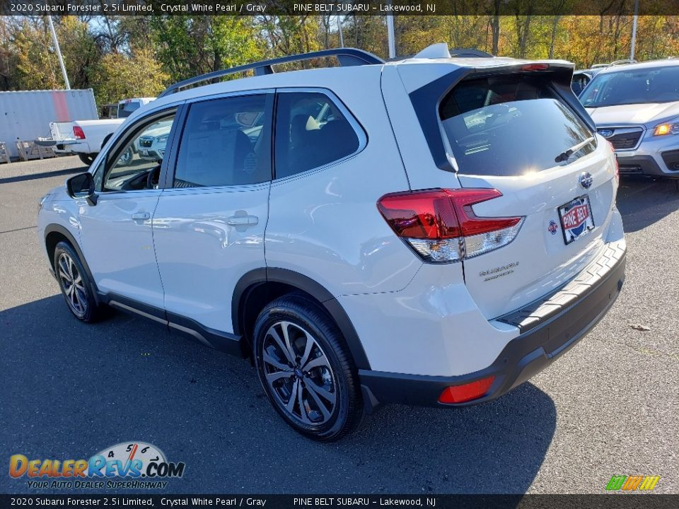 2020 Subaru Forester 2.5i Limited Crystal White Pearl / Gray Photo #4