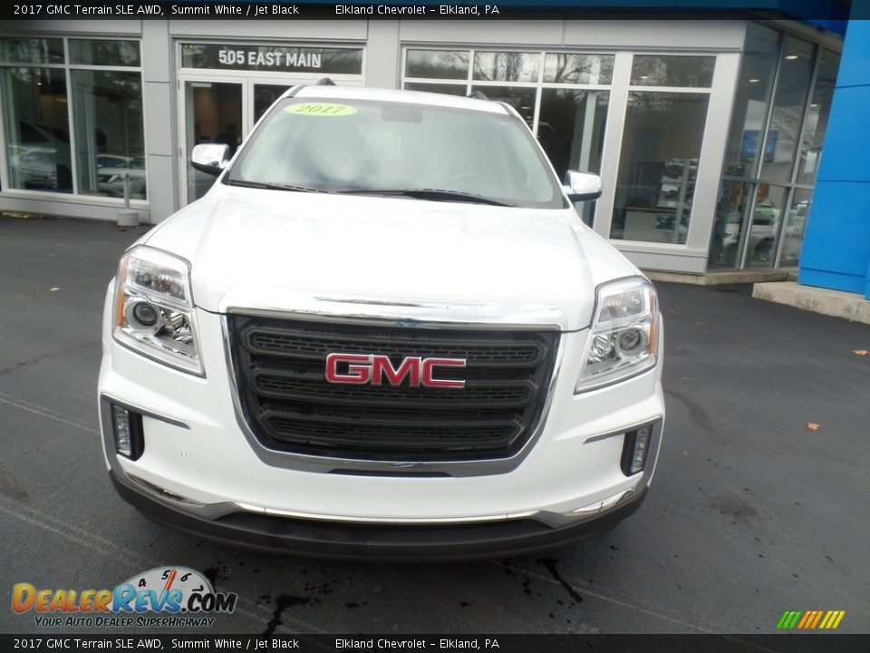 2017 GMC Terrain SLE AWD Summit White / Jet Black Photo #2