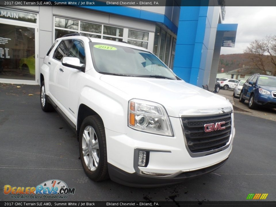 2017 GMC Terrain SLE AWD Summit White / Jet Black Photo #3