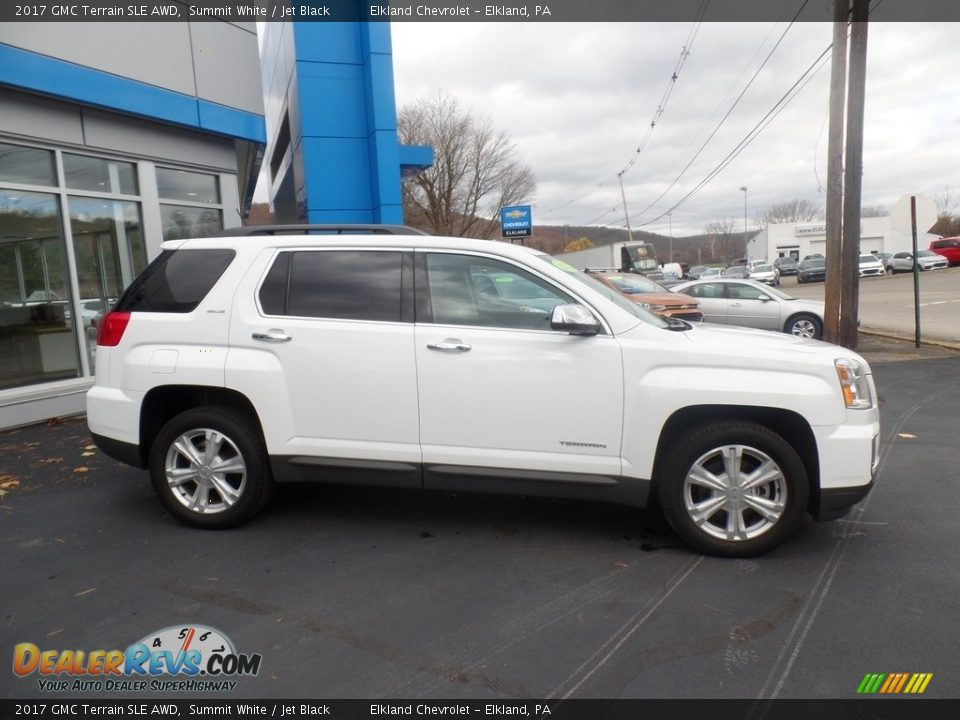 2017 GMC Terrain SLE AWD Summit White / Jet Black Photo #4