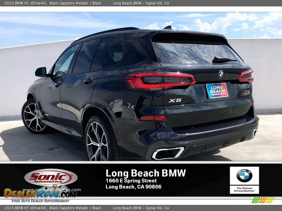 2020 BMW X5 sDrive40i Black Sapphire Metallic / Black Photo #2