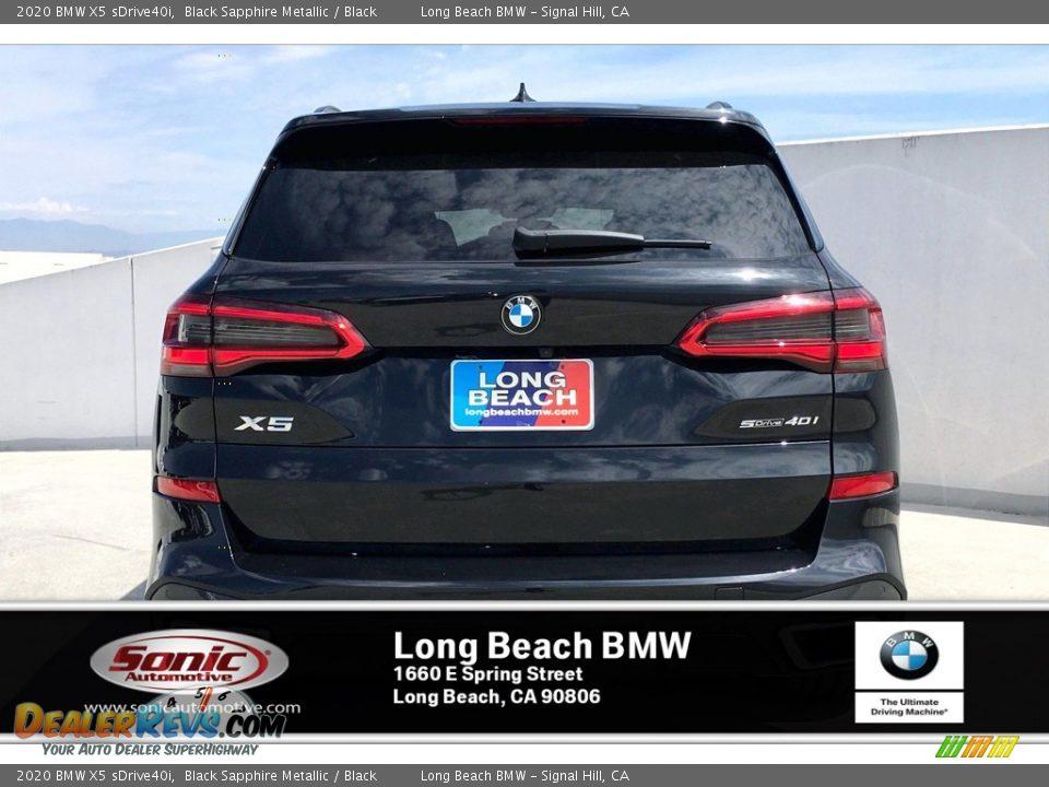 2020 BMW X5 sDrive40i Black Sapphire Metallic / Black Photo #3