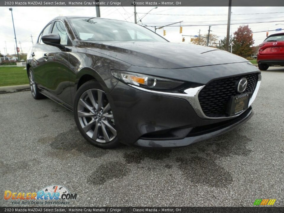 2020 Mazda MAZDA3 Select Sedan Machine Gray Metallic / Greige Photo #1