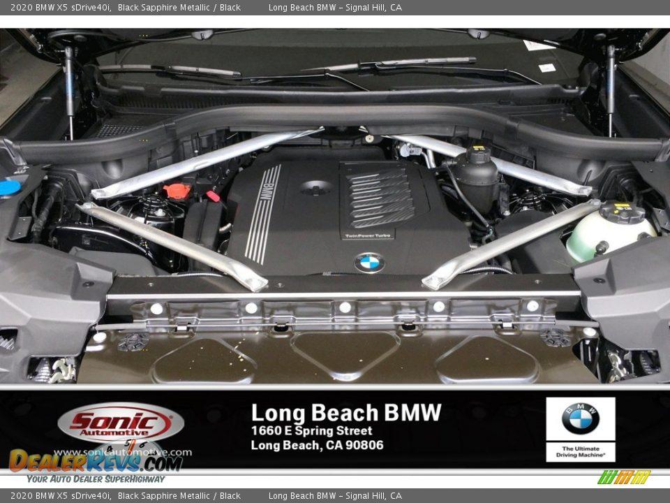 2020 BMW X5 sDrive40i Black Sapphire Metallic / Black Photo #8