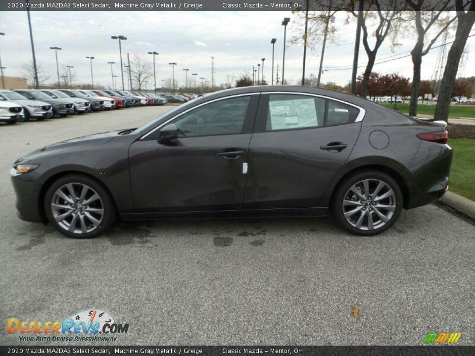 2020 Mazda MAZDA3 Select Sedan Machine Gray Metallic / Greige Photo #4