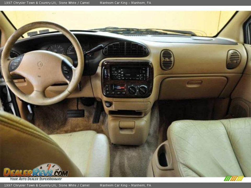 1997 Chrysler Town & Country LXi Stone White / Camel Photo #7 ...