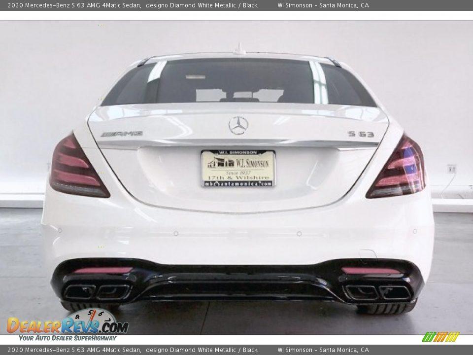 2020 Mercedes-Benz S 63 AMG 4Matic Sedan designo Diamond White Metallic / Black Photo #3