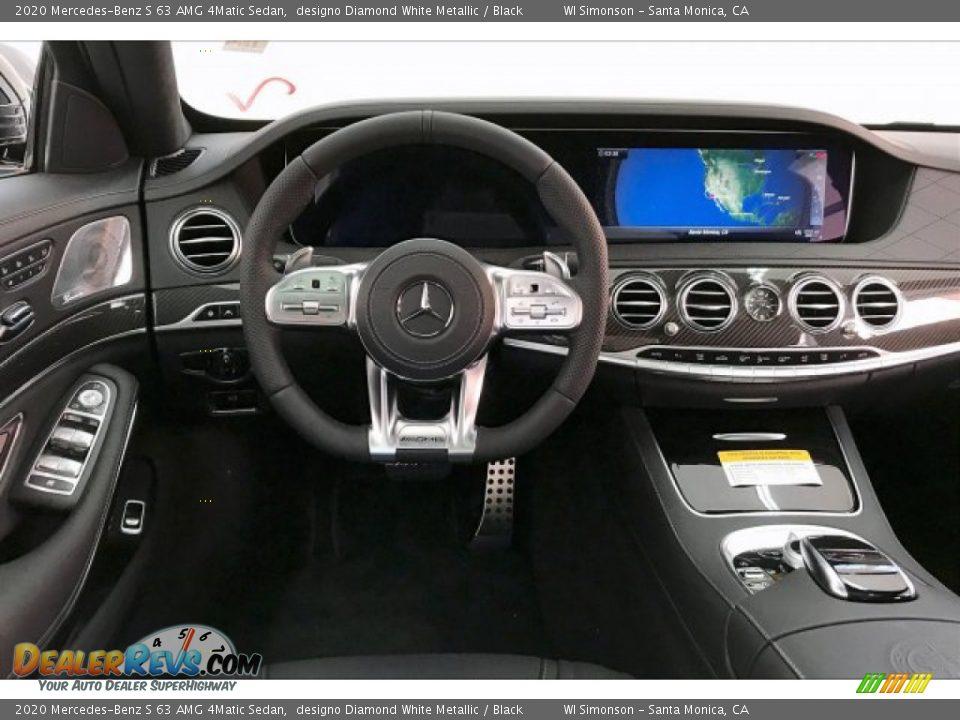 2020 Mercedes-Benz S 63 AMG 4Matic Sedan designo Diamond White Metallic / Black Photo #4