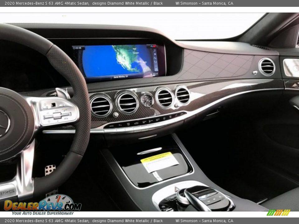 2020 Mercedes-Benz S 63 AMG 4Matic Sedan designo Diamond White Metallic / Black Photo #5