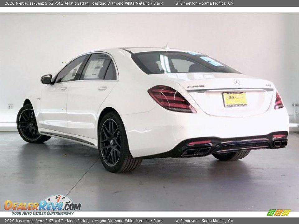 2020 Mercedes-Benz S 63 AMG 4Matic Sedan designo Diamond White Metallic / Black Photo #10