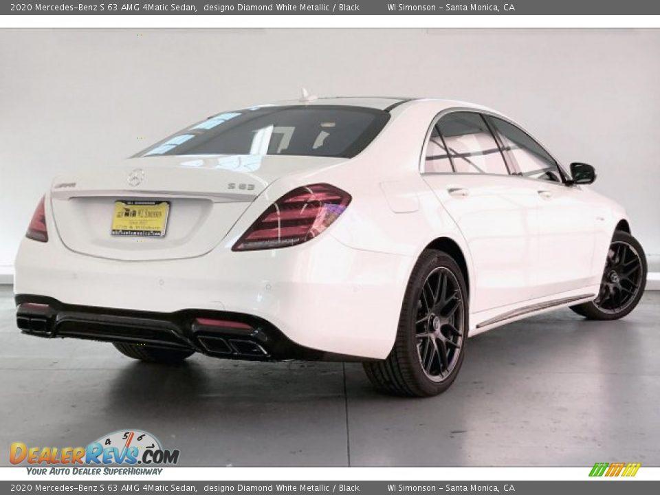 2020 Mercedes-Benz S 63 AMG 4Matic Sedan designo Diamond White Metallic / Black Photo #16