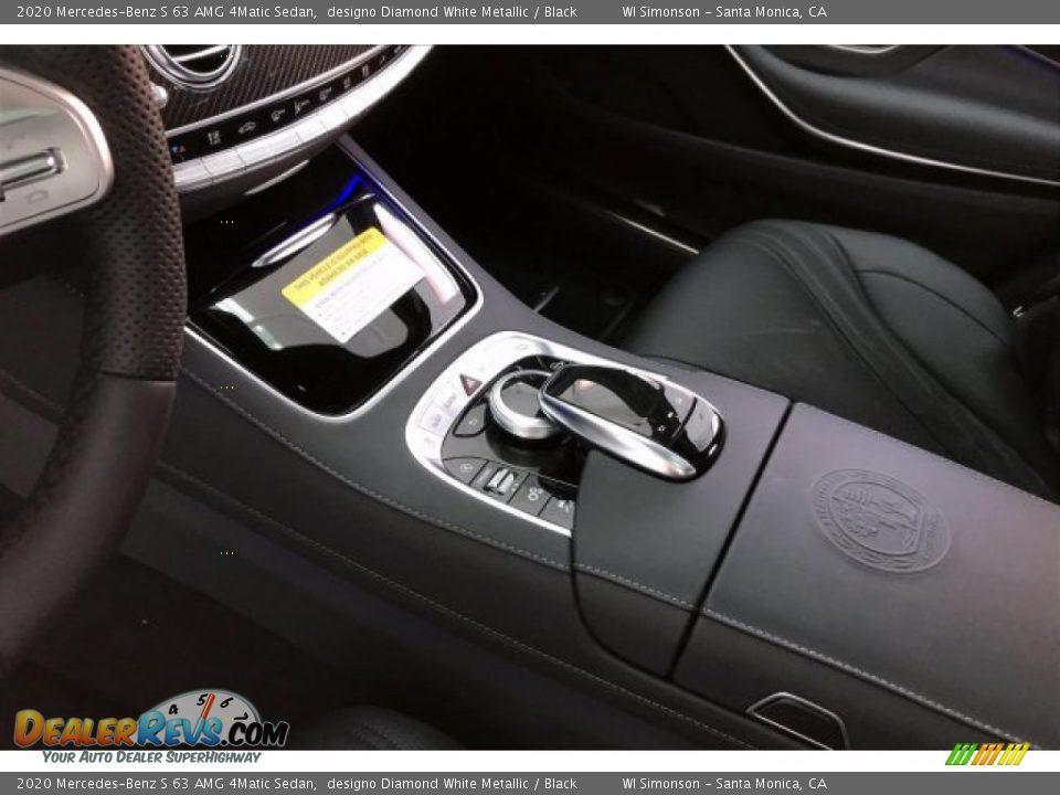 2020 Mercedes-Benz S 63 AMG 4Matic Sedan designo Diamond White Metallic / Black Photo #23