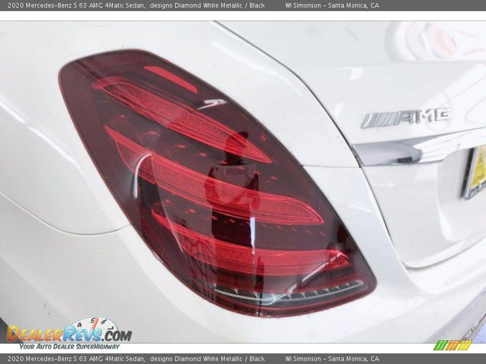 2020 Mercedes-Benz S 63 AMG 4Matic Sedan designo Diamond White Metallic / Black Photo #26