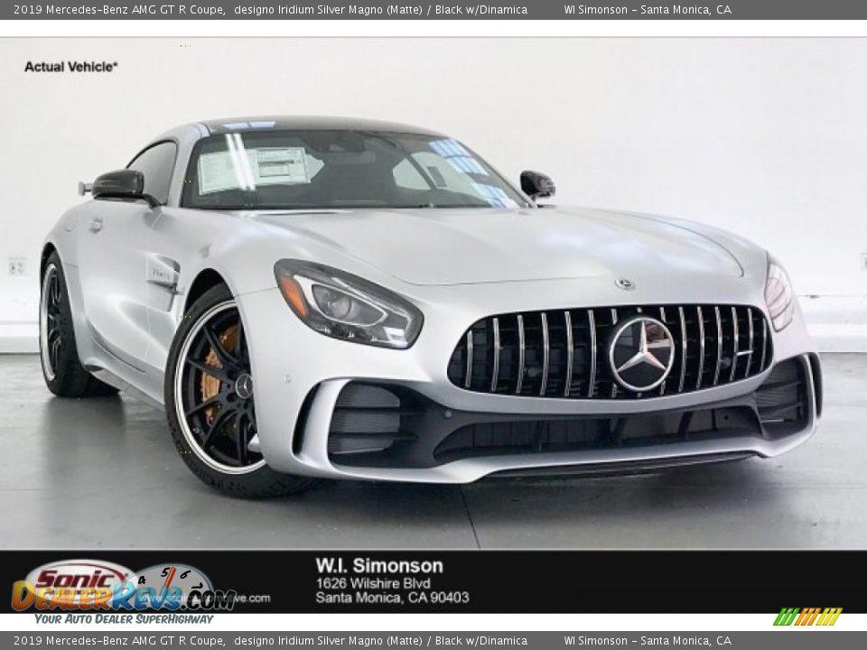 2019 Mercedes-Benz AMG GT R Coupe designo Iridium Silver Magno (Matte) / Black w/Dinamica Photo #1