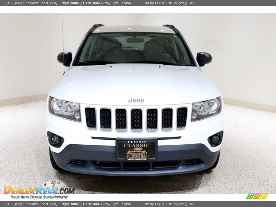 2014 Jeep Compass Sport 4x4 Bright White / Dark Slate Gray/Light Pebble Photo #2